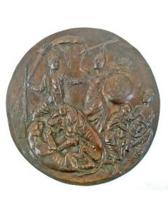 Bronzen plaquette, Expeditie tegen de Baliërs op Lombok, 1894