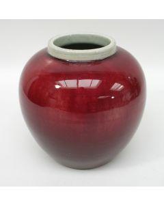 Chinese porseleinen buikvaas met sang de boeuf glazuur