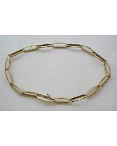 Gouden 'closed forever' armband