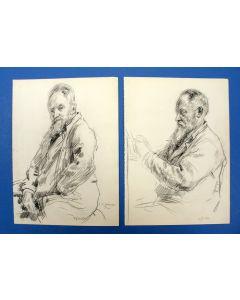 Felicien Bobeldijk, stel portrettekeningen van J.C. Wienecke, ca. 1941