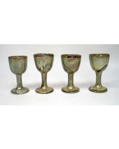 Gert de Rijk, vier aardewerk bekers, 1976