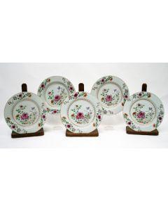 Serie famille rose borden, 18e eeuw