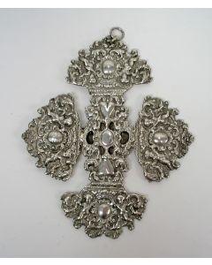 Zilveren wiegkruis, 18e/19e eeuw