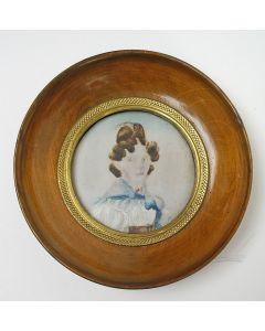 Portretminiatuur van een dame, door Samuel Baruch Benavente, 1829