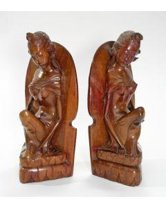Balinese houten boekensteunen, ca. 1940/50