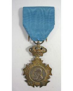 [België]. Veteranenmedaille van Leopold II, 1865-1909