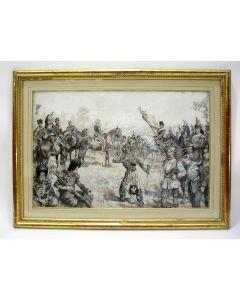 Charles Bellier. 'Napoleon III tijdens de Slag bij Sedan, 1870', grisaille.