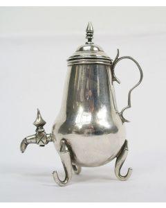 Zilveren miniatuur kraantjeskan, 18e eeuw