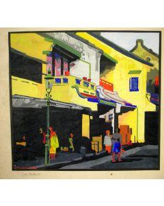 Gouache, Oud Batavia, ca. 1930