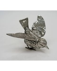 Zilveren strooibus / tafelstuk in de vorm van een vogel
