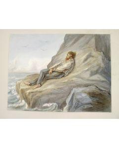 Alexander VerHuell, 'De zee', aquarel, 1877