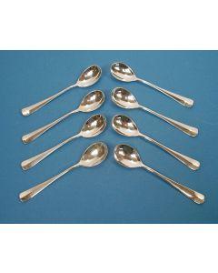 8 zilveren compôtelepels, 1979