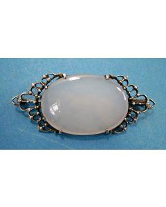 Fons Reggers, zilveren broche met maansteen, ca. 1930
