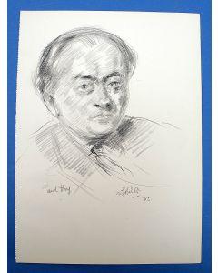 Felicien Bobeldijk, portrettekening van de acteur Paul Huf, 1942