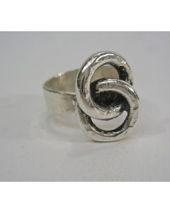 Modernistische zilveren ring, Menno Meijer, ca. 1970
