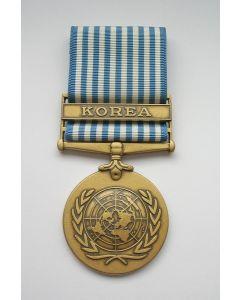 Koreamedaille van de Verenigde Naties met gesp.
