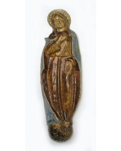 Aardewerk Madonnabeeld, Terraco Draak, Beesel, 1943