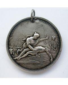 Beloningspenning van de Amsterdamse Maatschappij tot Redding van Drenkelingen op naam, 1854 [1767]