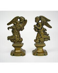 Vlaamse bronzen engelfiguren, 18e eeuw