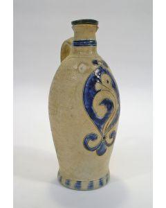 Keuls aardewerk oorkannetje met schroefdop, 19e eeuw