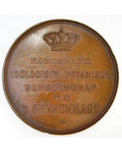 Prijsmedaille van het Koninklijk Zoölogisch-Botanisch Genootschap te s Gravenhage, 1881