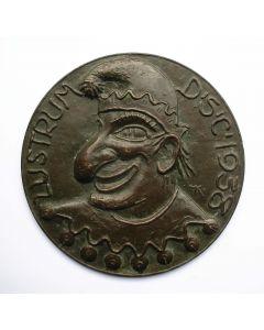 Bronzen plaquettepenning Delftsch Studenten Corps 1938