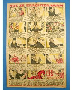 'Hoe ze erachter kwam', verkiezingsprent van de S.D.A.P, 1929 [getekend door Albert Hahn]