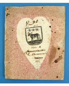 d'Erven Stichters Comptoir Almanach van 1798, in gebruik geweest bij de Municipaliteit van Edam.