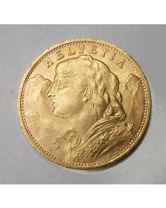 Zwitserland, 20 francs goud, 1935