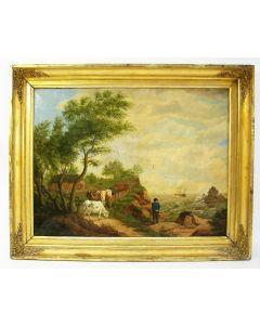 H.Hobbel, kustlandschap, 1838