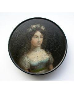 Snuifdoos met de voorstelling van een jongedame, Stobwasser, ca. 1820