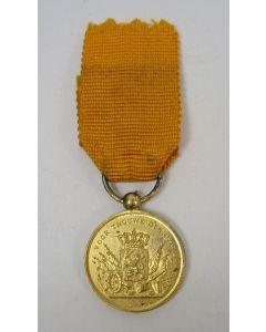 Medaille voor Langdurige Trouwe Dienst 'in goud', uitvoering in miniatuur