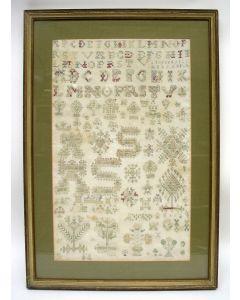 Friese merklap / letterlap, 1736