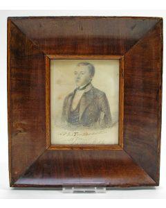 Portret van Antonie Baron van Haersolte als adelborst, door A.Beyerman, 1848