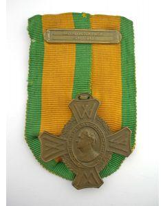 Oorlogsherinneringskruis, met gesp 'Nederlandsch Indië 1941-1942'