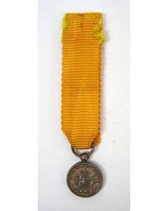 Medaille voor Langdurige Trouwe Dienst in brons, uitvoering in miniatuur