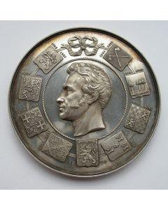 Penning, 100 jaar Loge Groot Oosten, Prins Frederik 40 jaar Grootmeester der Vrijmetselarij, 1856