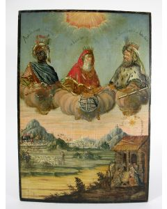 De Drie Koningen, paneel, ca. 1700