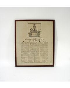 'Treur-tafereel op den onvergetelijken heldendood van Luitenant J.C.J. van Speyk' [1832]