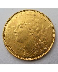 Zwitserland, 10 francs goud, 1922