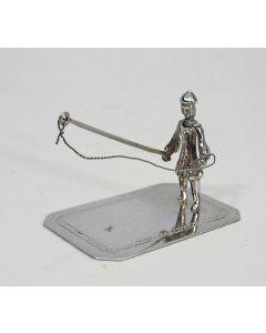 Miniatuur zilveren visser, 19e eeuw
