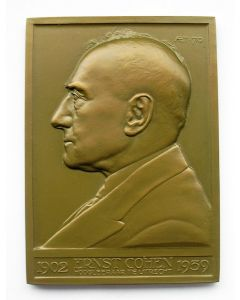 Plaquettepenning, Professor Ernst Julius Cohen, Utrecht 1939