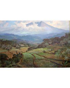 Sudjono Abdullah, Indonesisch landschap (Gunung Salak)