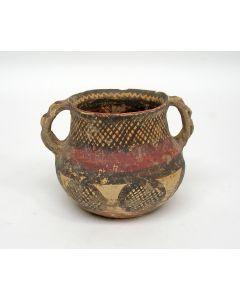 Apulië, Daunische terracotta buikpot, 5e-4e eeuw v. Chr.