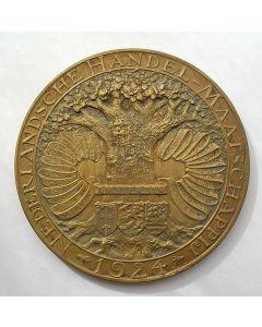 Penning 100 jaar Nederlandsche Handel Maatschappij, 1924 [J.C. Wienecke]