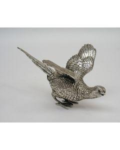 Zilveren tafelstuk, fazant