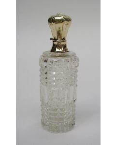Parfumfles met gouden dop, 19e eeuw