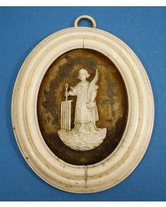 Ivoren wandplaquette, Sint Laurentius, ca. 1800