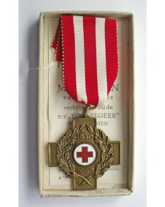 Herinneringskruis 1939-1940 van het Nederlandse Rode Kruis