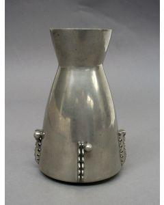 Tinnen vaas, ontwerp Chris van der Hoef voor Gero, ca. 1930